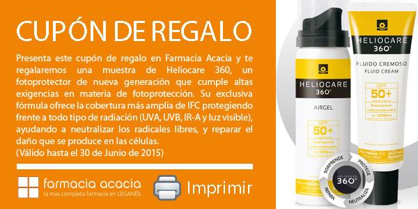CUPON REGALO. MUESTRA SOLAR HELIOCARE 360